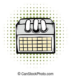 Desktop calendar comics icon