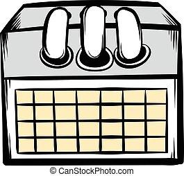 Desktop calendar icon cartoon