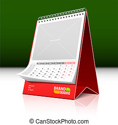 Desktop calendar - Vector illustration of a desktop calendar...