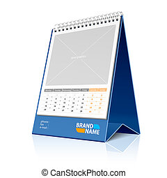 Desktop calendar - Vector illustration of a desktop...