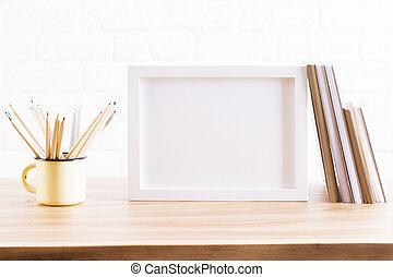 desktop, com, ferro, assalte, e, quadro