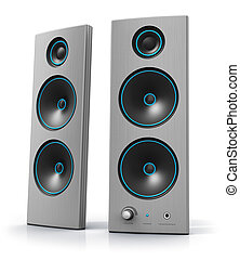 Desktop computer audio stereo speakers