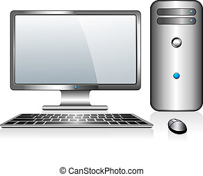 Desktop Computer - Computer with Monitor Keyboard and Mouse