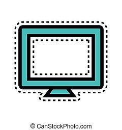 desktop computer, dataskærm, ikon