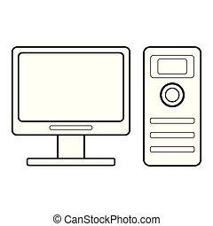 Desktop computer icon image