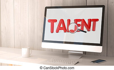 desktop computer online talent search