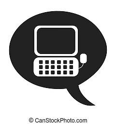 desktop-computer, textanzeige, ikone