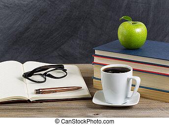 desktop for teacher in classroom