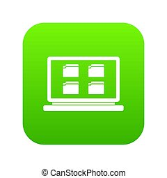 Desktop icon digital green