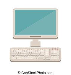 desktop, ikon, computer klaviatur