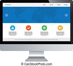 desktop isolated responsive webdesign
