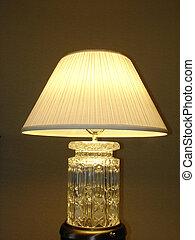 Desktop Lamp on Glass Stand