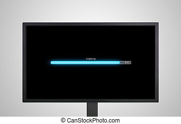 desktop Monitor display with loading bar
