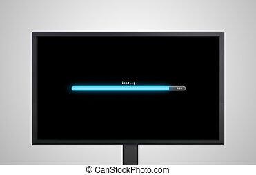 desktop Monitor display with loading bar