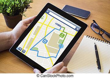 desktop tablet route planning