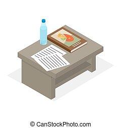 Desktop With Elements for Education Illustration