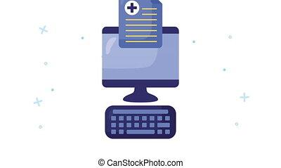 desktop with healthcare online and medical order ,4k video ...