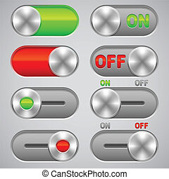 desligado, switches.