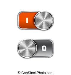 desligado, toggle, sliders, interruptor, ligar/desligar, posição