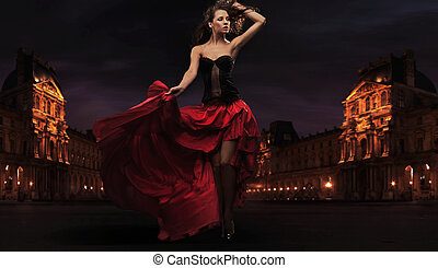 deslumbrante, dançarino dança espanhola