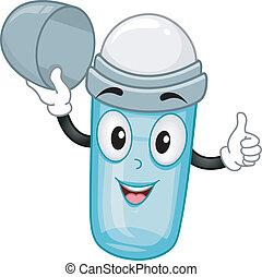 desodorante, abierto, rodar-en, mascota