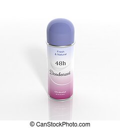 desodorante, isolado, lata, fundo, branca, 3d