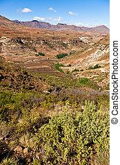 Desolate mountain landscape
