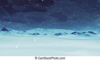 Desolate snowy desert at winter day with snowfall - Simple ...