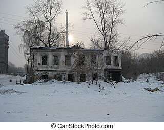 Desolate - an old, broken home in rural Russia