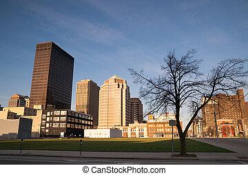 Desolate Street Sunday Morning Sunrise Dayton Ohio Midwest USA