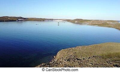 Desolate Vaygach Island in desert of Arctic Ocean....