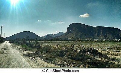 desolated, 風景, 洪水, orihuela
