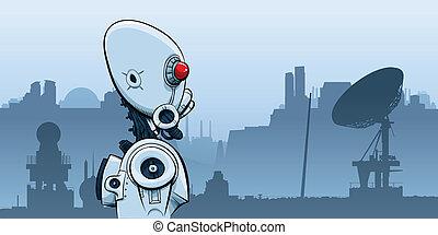 Desolation Robot - A cartoon robot in a desolate future...