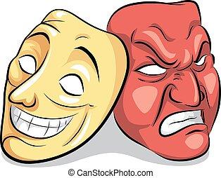 desordem, bipolar, máscara, personalidade