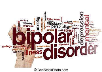 desorden,  bipolar, palabra, nube