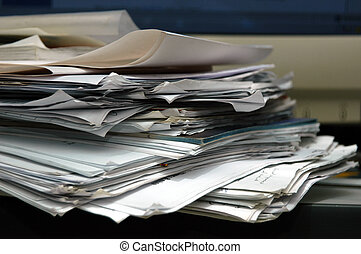 desordenado, papel
