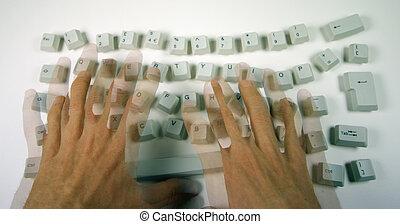 desordenado, teclado