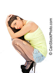 Despair and loneliness of a woman - The depressive...