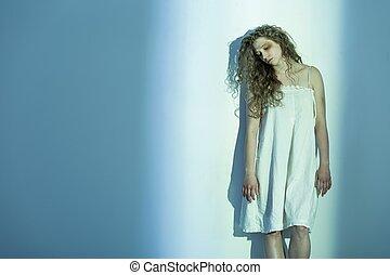 Despair victim of sexual assault - Picture of despair victim...