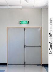 despeça saída, porta