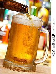 despejar, cerveja assalta