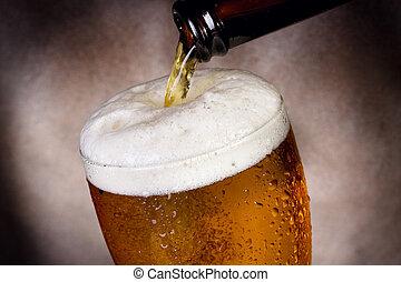 despejar, vidro cerveja