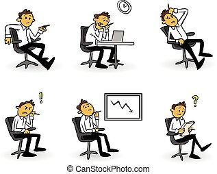 Desperate businessman cartoon