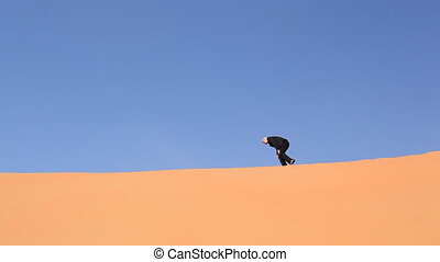 desperate businessman in desert.mov