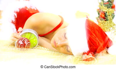 desperate female santa claus late f - Stressed out female...