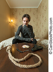 Desperate man choose commit suicide method.