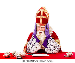 Desperate St.Nicholas - Desperate sinterklaas not knowing...
