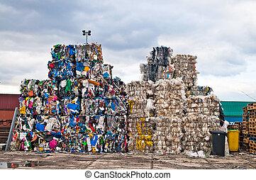 desperdício, plástico