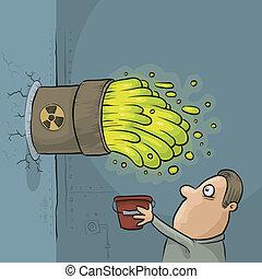 desperdício tóxico, acidente