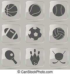 desporto, bola, ícones